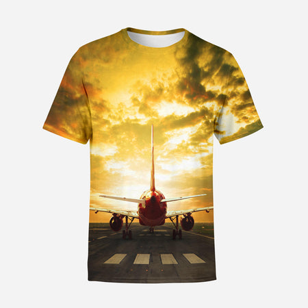 Ready for Departure Passenger Jet Designed 3D T-Shirts