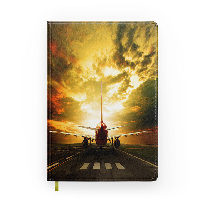 Ready for Departure Passenger Jet Designed Notebooks
