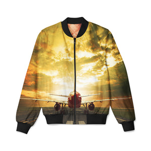 Ready for Departure Passanger Jet Designed 3D Pilot Bomber Jackets