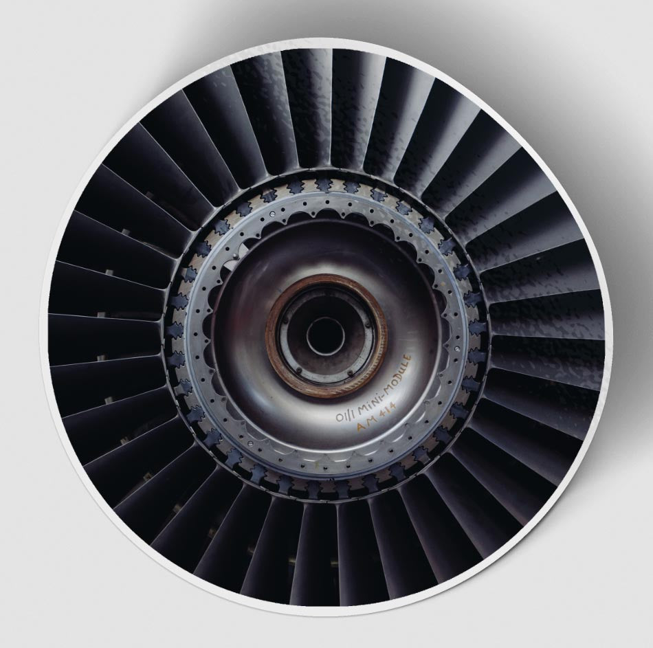 Real Jet Engine Designed Stickers