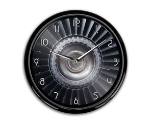 Real Jet Engine Printed Wall Clocks Aviation Shop