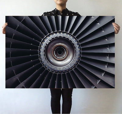Real Jet Engine Printed Posters