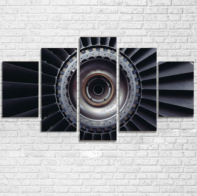 Real Jet Engine Printed Multiple Canvas Poster