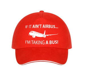 If It Ain't Airbus, I'm Taking a Bus Designed Hats Pilot Eyes Store Red