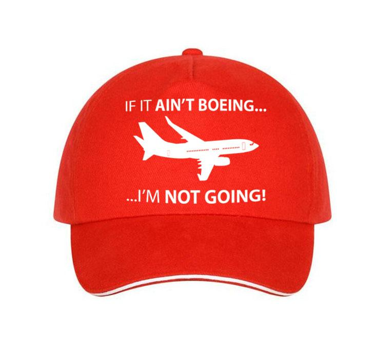 If It Ain't Boeing, I am not Going Hats Pilot Eyes Store Red