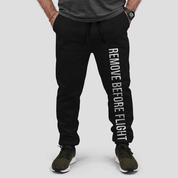 Remove Before Flight 2 Designed Sweat Pants & Trousers