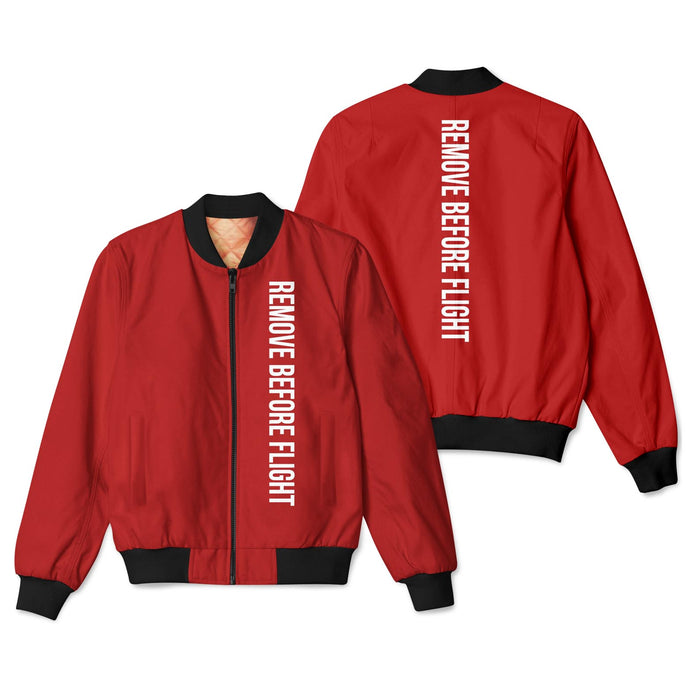 Remove Before Flight 2 Designed 3D Pilot Bomber Jackets