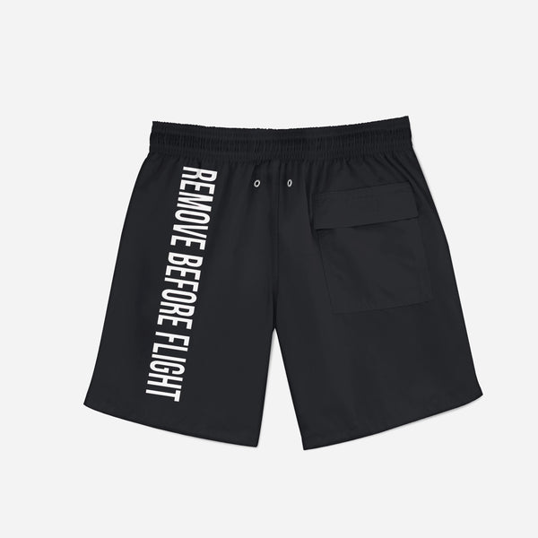 Remove Before Flight 2 (Black) Swim Trunks & Shorts