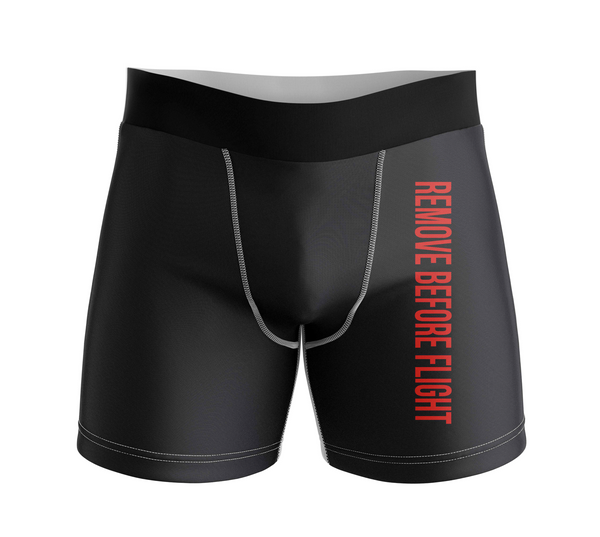 Remove Before Flight 2 Designed Men Boxers
