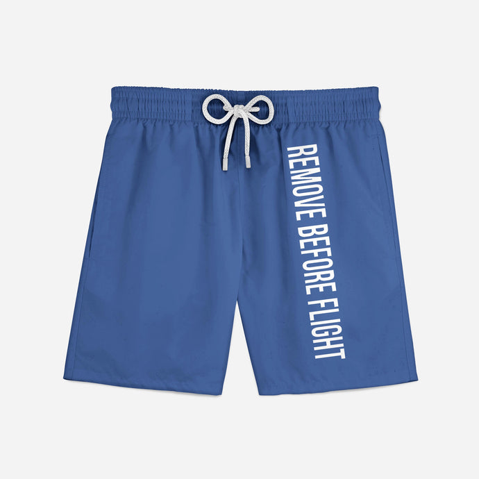 Remove Before Flight 2 (Blue) Swim Trunks & Shorts