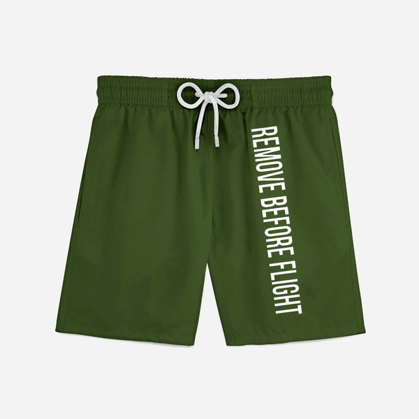 Remove Before Flight 2 (Green) Swim Trunks & Shorts