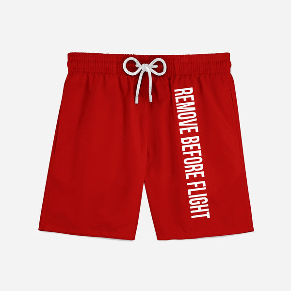 Remove Before Flight 2 (Red) Swim Trunks & Shorts