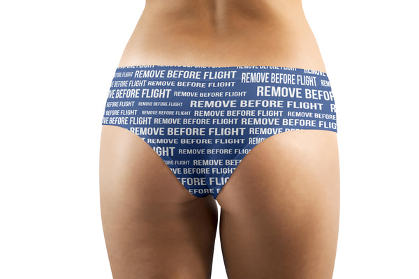 Remove Before Flight 3 (Blue) Designed Women Panties & Shorts