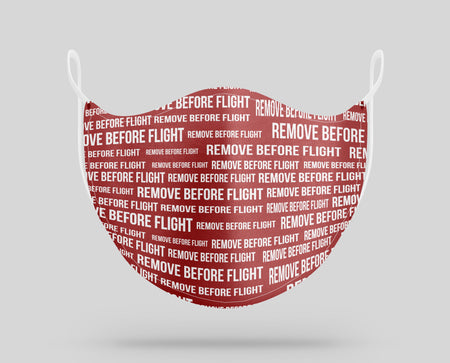 Remove Before Flight 3 Designed Face Masks