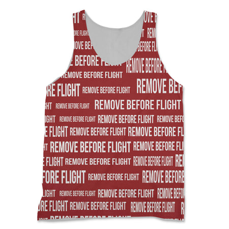 Remove Before Flight 3 (Red) Designed 3D Tank Tops