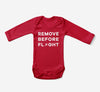Remove Before Flight Designed Baby Bodysuits