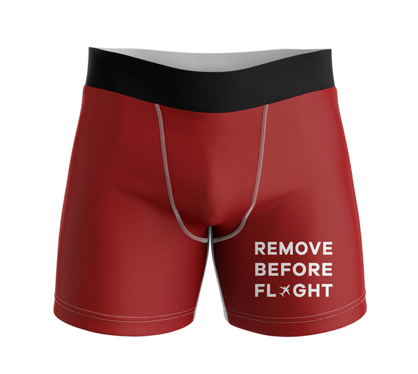 Remove Before Flight Designed Men Boxers