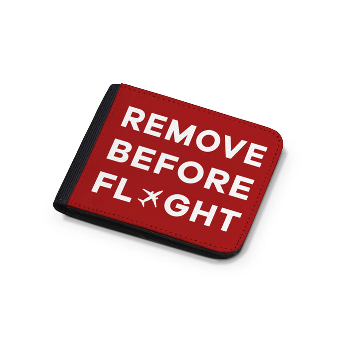 Remove Before Flight Designed Wallets