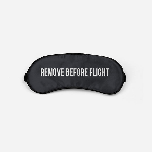 Remove Before Flight 2 Sleep Masks Aviation Shop Light Gray Sleep Mask