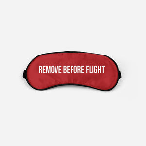 Remove Before Flight 2 Sleep Masks Aviation Shop Red Sleep Mask