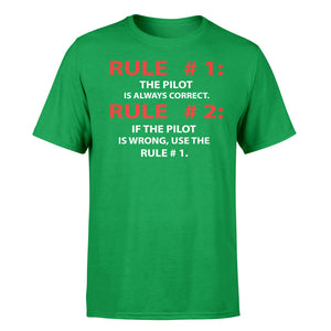 Rule 1 - Pilot is Always Correct Designed T-Shirts