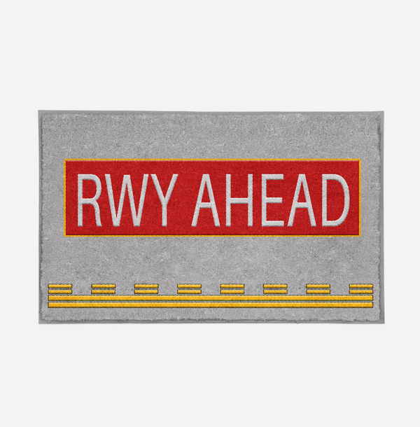 Runway Ahead Designed Door Mats Aviation Shop