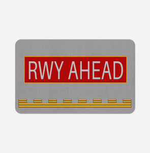 Runway Ahead Designed Bath Mats Pilot Eyes Store Floor Mat 50x80cm