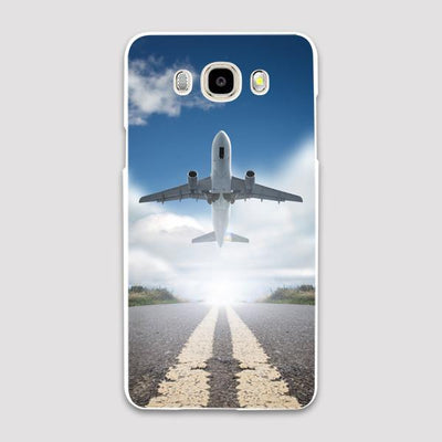 Taking Off Aircraft Printed Samsung C & J Cases