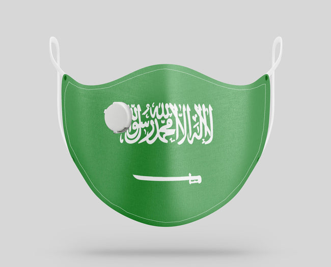 Saudi Arabia Flag Designed Face Masks