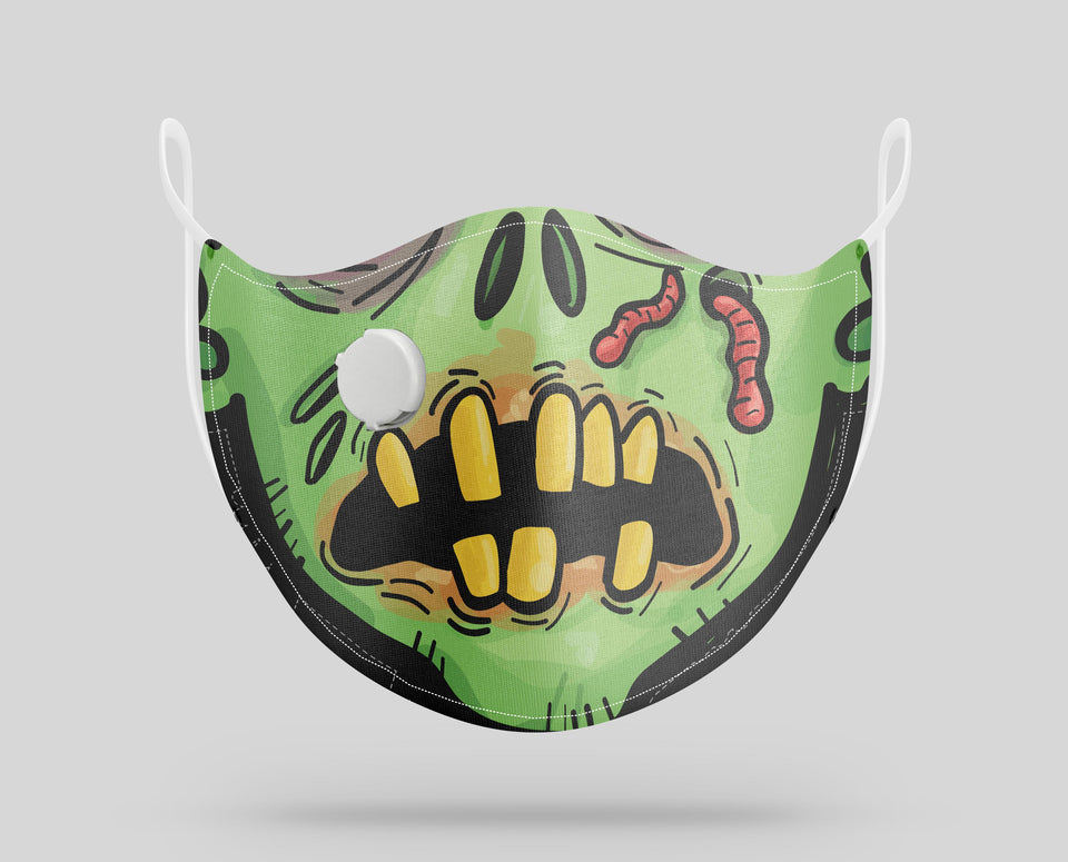 Scary Face Designed Face Masks