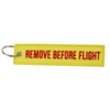 Yellow & Red Designed Remove Before Flight Key Chains