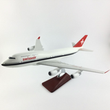 Swissair Boeing 747 Airplane Model (Handmade Special Edition 45CM)