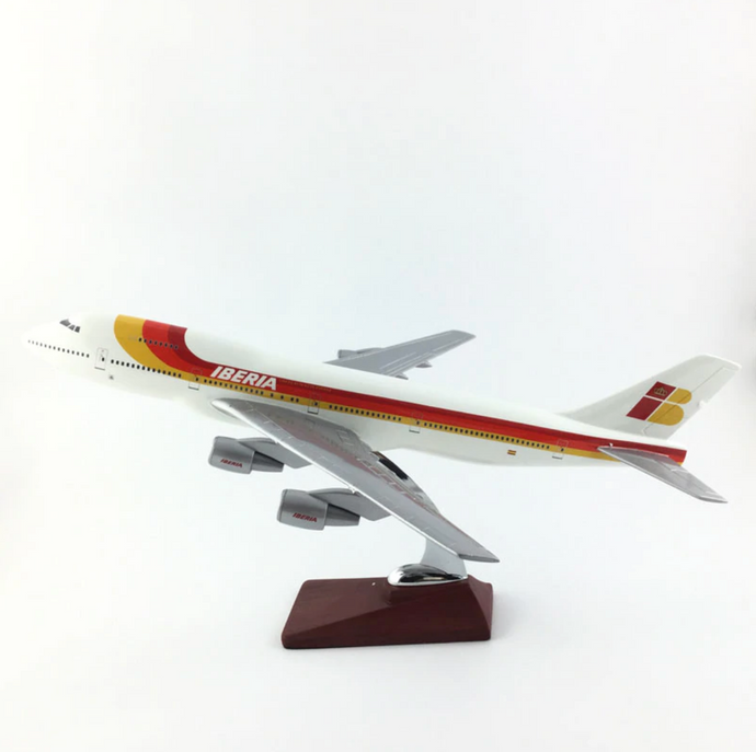 Iberia Spanish Airlines Boeing 747 Airplane Model (Handmade Special Edition 45CM)