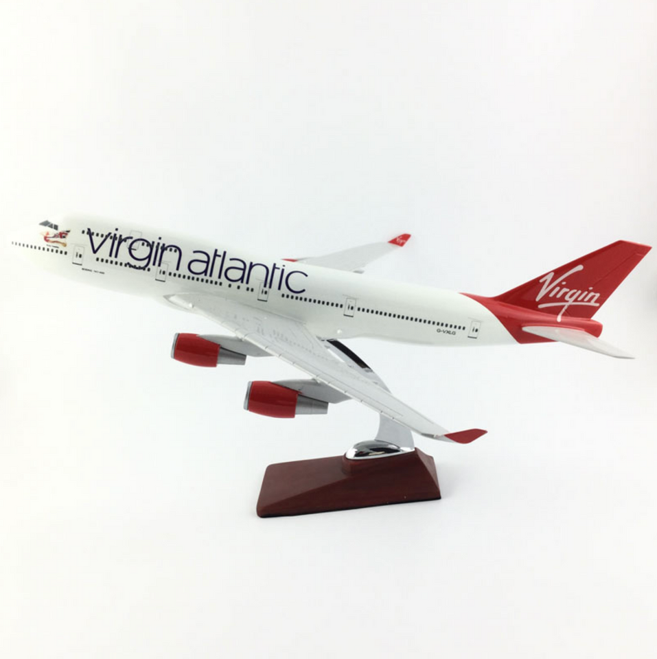 Virgin Atlantic Boeing 747 Airplane Model (Handmade Special Edition 45CM)