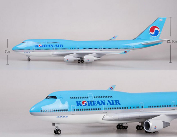 Korean Air Boeing 747 Airplane Models (Special Edition 47CM)