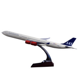 Scandinavian SAS Airbus A340 Airplane Model (Handmade 47CM)