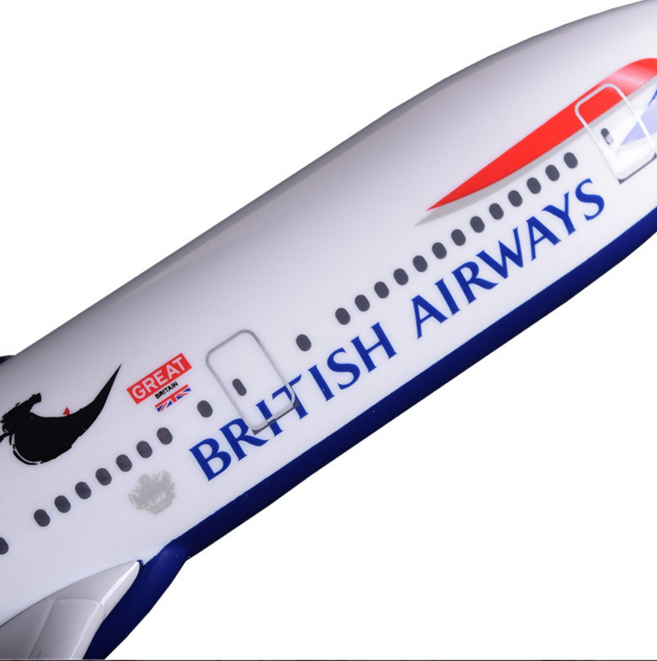 British Airways Boeing 777 Airplane Model (Special) (Handmade 47CM)