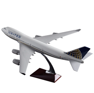 United Airways Boeing 747 Airplane Model (Handmade 47CM)