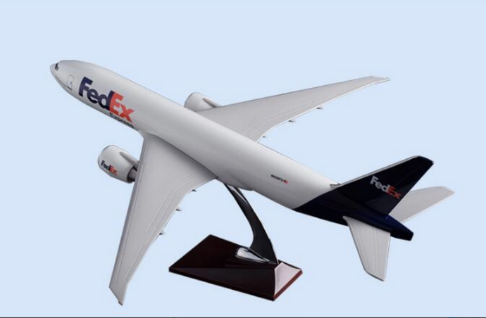 FedEx Cargo Boeing 777 Airplane Model (Handmade 47CM)