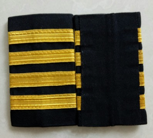 Super High Quality Pilot Epaulettes (1,2,3,4 - Gold & Silver Stripes)