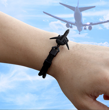 Super Quality Stylish Airplane Shape Bracelets (Pure Colours)