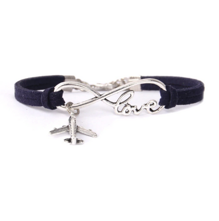 Love & Airplane Shape Designed Bracelets