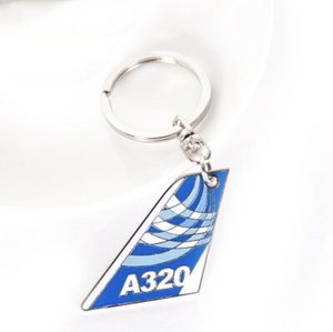 Colourful Airbus A320 Designed Key Chains