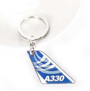 Colourful Airbus A330 Designed Key Chains