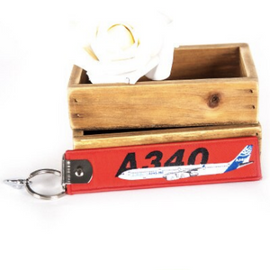 Colourful Airbus A340 Designed Key Chains