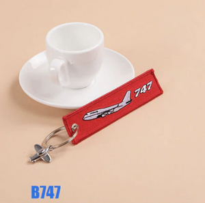 Boeing 747 (Version 2) & Plane Image Designed Key Chains