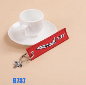 Boeing 737 (Version 2) & Plane Image Designed Key Chains