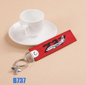 Boeing 737 & Plane Image Designed Key Chains