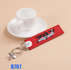 Boeing 787 & Plane Image Designed Key Chains