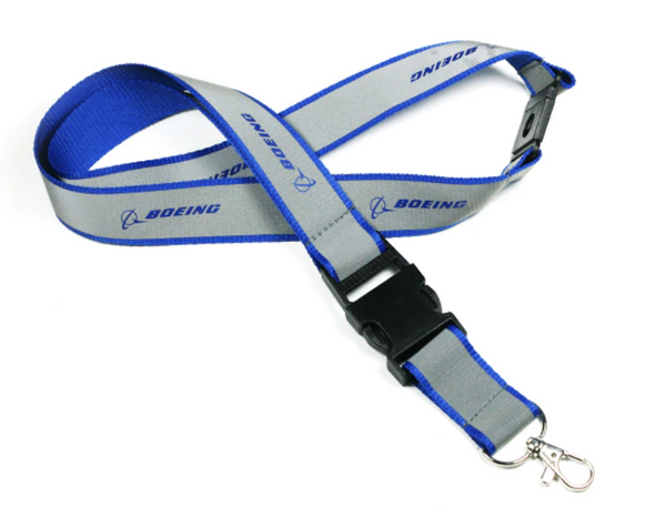 Blue & Gray Boeing Lanyard & ID Holder